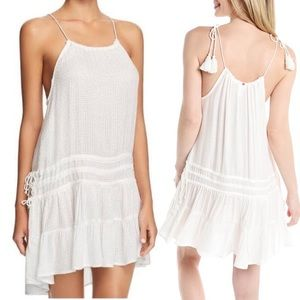 NWT RED CARTER White Swim Coverup